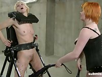 April Showers incapacitated and abused by lesbian Mistress Irony