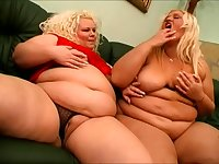 Fat women are the best and these two love playing with their toys at home