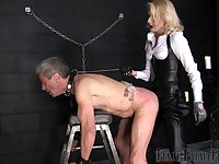 after a long day Mistress Akella wants to punish her lover with large strapon