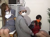Two Japanese chics bound and gagged