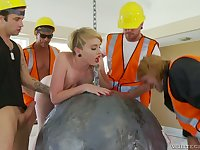 Miley May is a fucking wrecking ball and she loves gangbang sessions