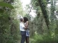 Walking in the forest with a leggy lady-boy