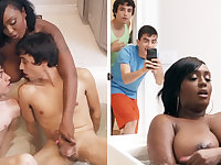 Black stepmom getting double-teamed by her stepsons