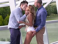 Delicious hottie Sofi Goldfinger gets double penetrated for the first time