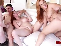 Five Raunchy And Sultry Redheads Got Laid Hard